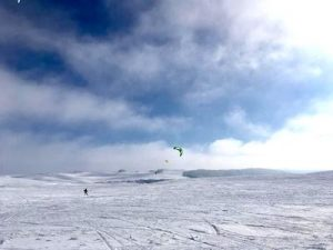 kiteski kitesurf sur la neige