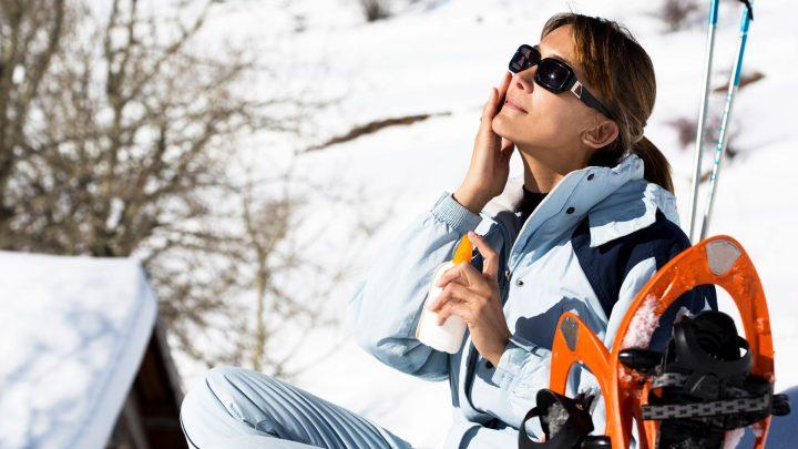 Crème solaire en hiver